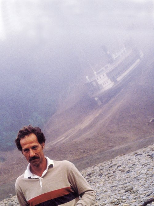 Werner Herzog on the set of 'Fitzcarraldo' (1982)