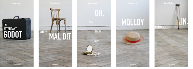 Amélie Doistau photography on French editions of Samuel Beckett's work