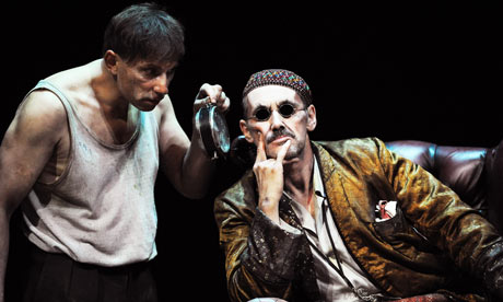 Simon McBurney and Mark Rylance in Endgame. Photograph: Tristram Kenton