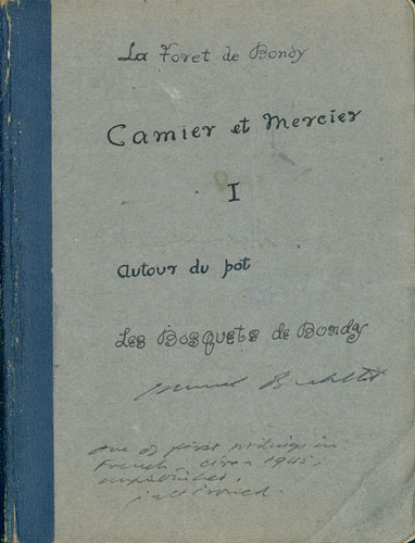 Samuel Beckett Manuscript, 'Mercier and Camier'