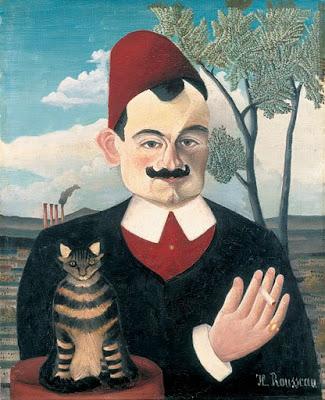 El caballero y su gato