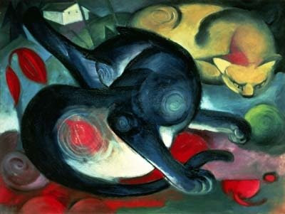 Franz Marc, Two cats, 1912