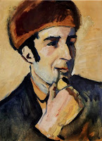 August Macke, Retrato de Franz Marc