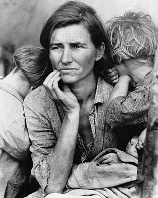 Dorothea Lange, Madre emigrante, 1936