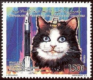 Félix en un sello de las Islas Comores