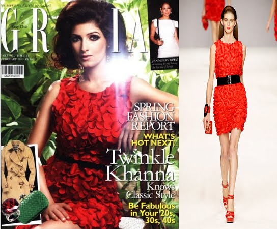 Twinkle Khanna Grazia Feb 2010 Blugirl dress
