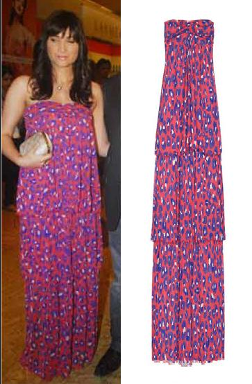 Michelle Poonawalla Lakme Fashion Week DvF maxi dress