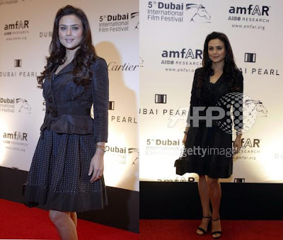 Preity Zinta Dubai International Film Festival Amfar dinner