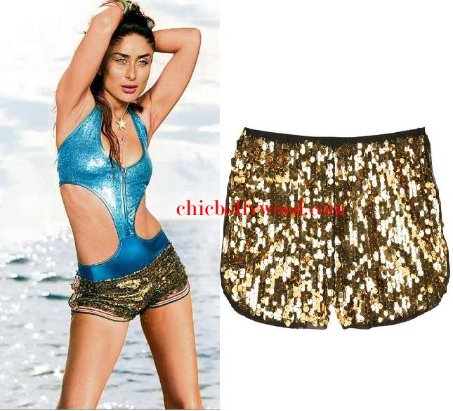 Kareena Kapoor Billu Barber Shahrukh Khan Anna Sui gold shorts