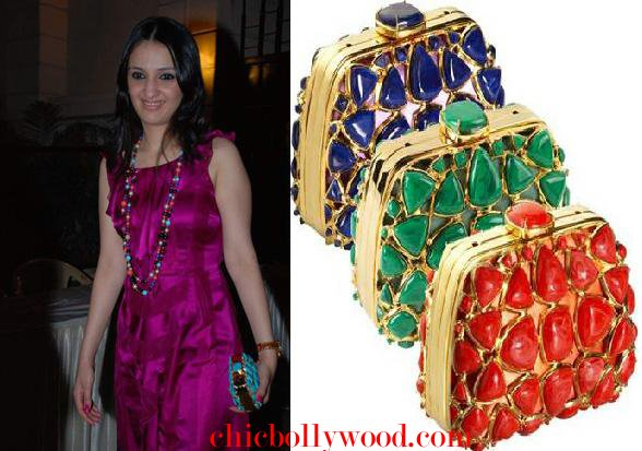 Anu Deewan Christian Dior Mosaic Clutch Tushar Kapoor party