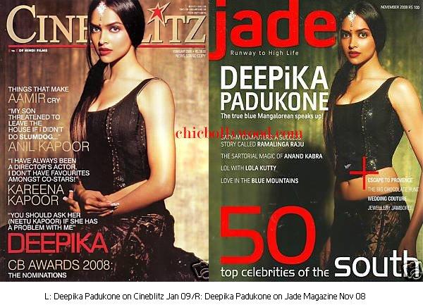 Deepika Padukone Cineblitz magazine Jade January 09 November 08 black shantanu nikhil lehenga