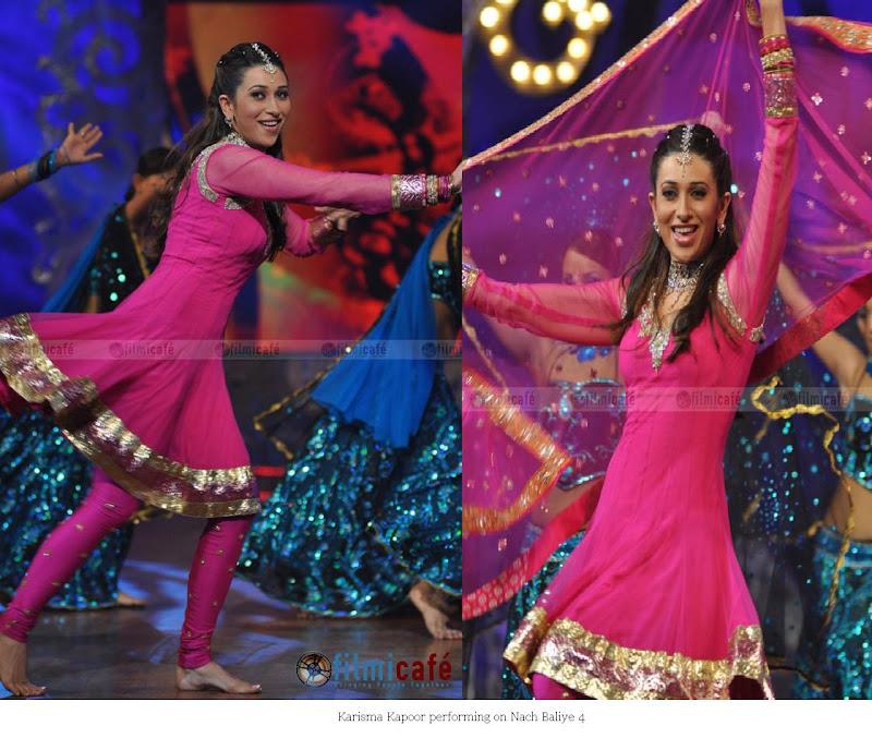 Karisma Kapoor Nach Baliye 4 pink suit performance