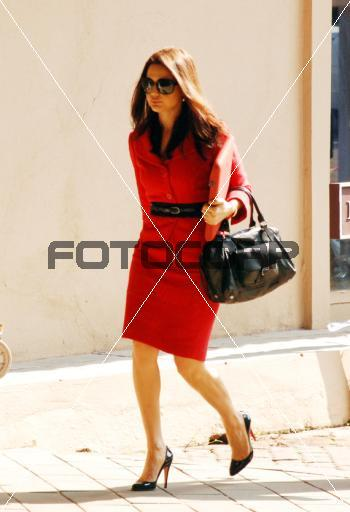 Preity Zinta IPL Auction Red dress Christian Louboutin shoes