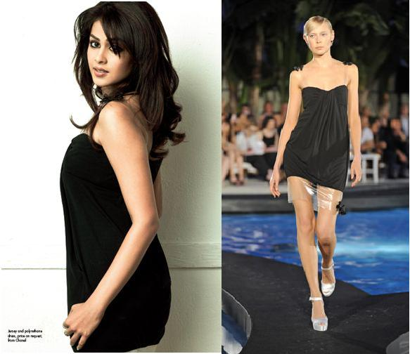 Elle India Feb 09 Genelia D'Souza Chanel dress Resort 2009 collection