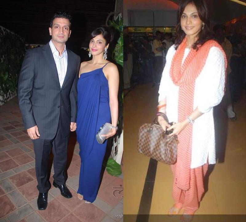 Esha Isha Koppikar Hinduja Wedding Premiere MH 26/11 Louis Vuitton Damier Speedy