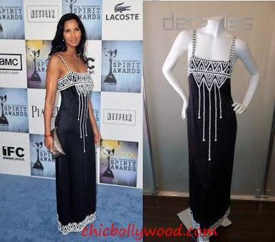 Padma Lakshmi Decades Inc black dress 09 Independent Spirit Awards