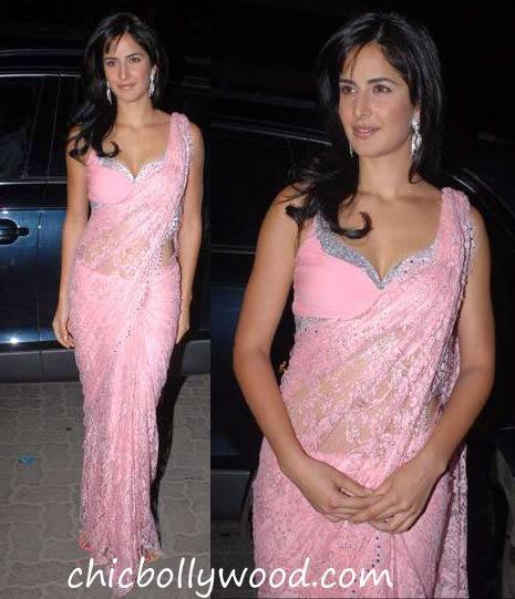 Katrina Kaif pink sari Amrita Arora wedding