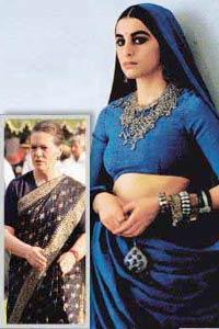 Sonia Gandhi in Moschino sari