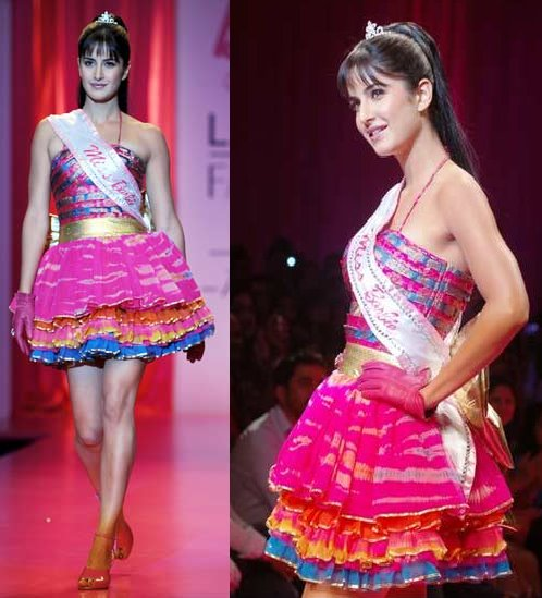 Katrina Kaif Barbie Lakme Fashion Week Nishka Lulla