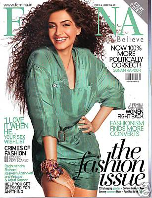Sonam Kapoor May 09 Femina cover