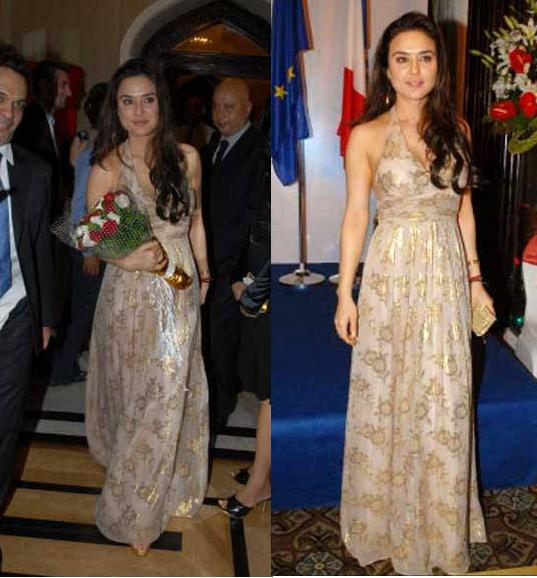 Preity Zinta French France National Day gown