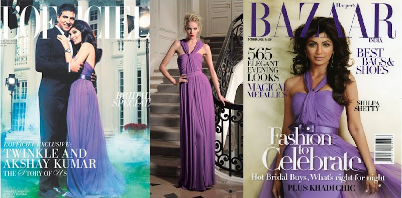 Twinkle Khanna Shilpa Shetty Christian Dior Harpers Bazaar LOfficiel Magazine