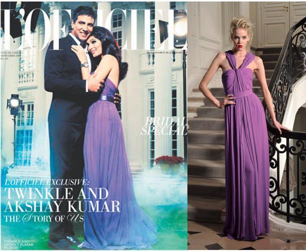 Twinkle Khanna Akshay Kumar LOfficiel Magazine Christian Dior