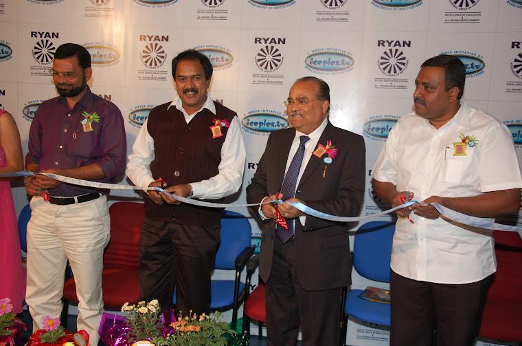 Chairman Dr A.F Pinto Inaugurates Iceplex studio at RIS  Kundanahalli Bengaluru