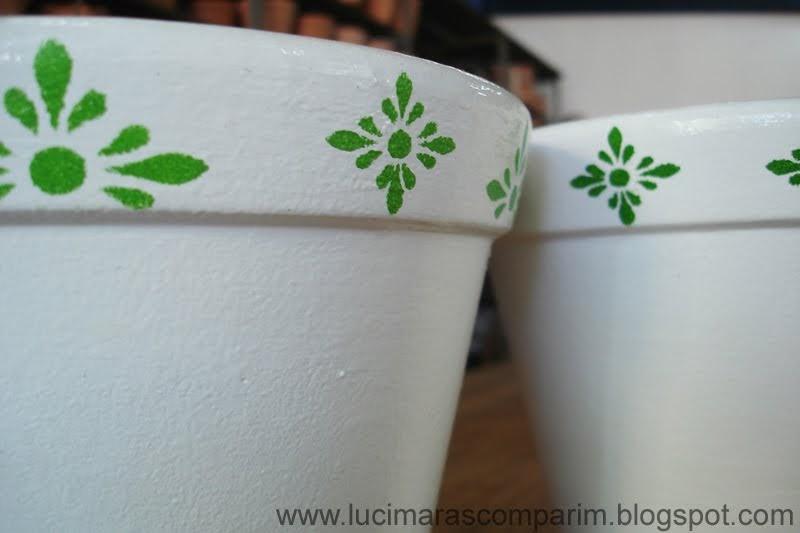 Lucimara scomparim pintura em vaso de cer mica com tinta Esmalte para ceramica