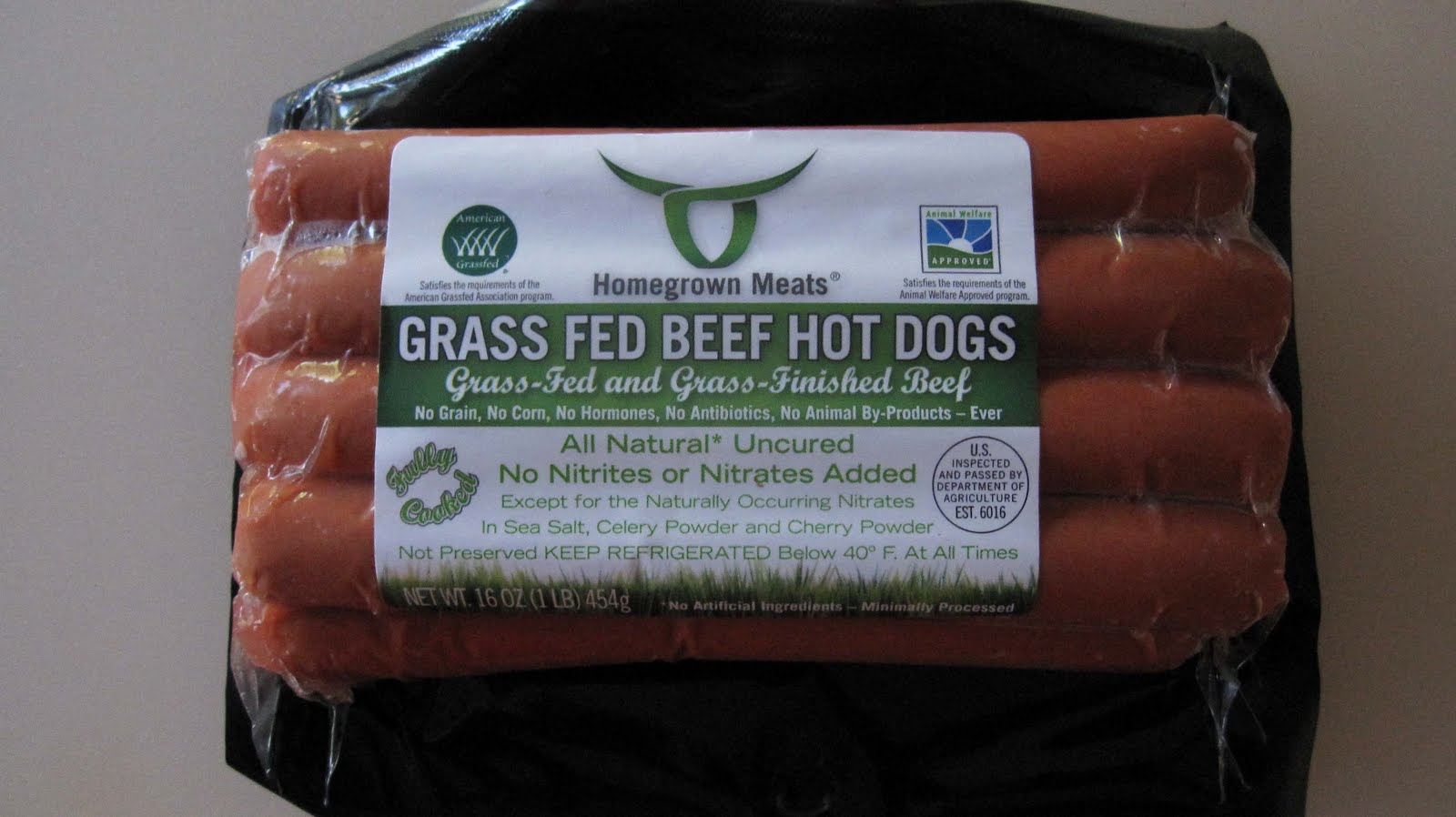 Grass Fed Beef Hot Dogs