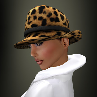 Brown Womens Fashion Boots on Coco Designs    Second Life Fashion  New Release   Leopard Print Hat