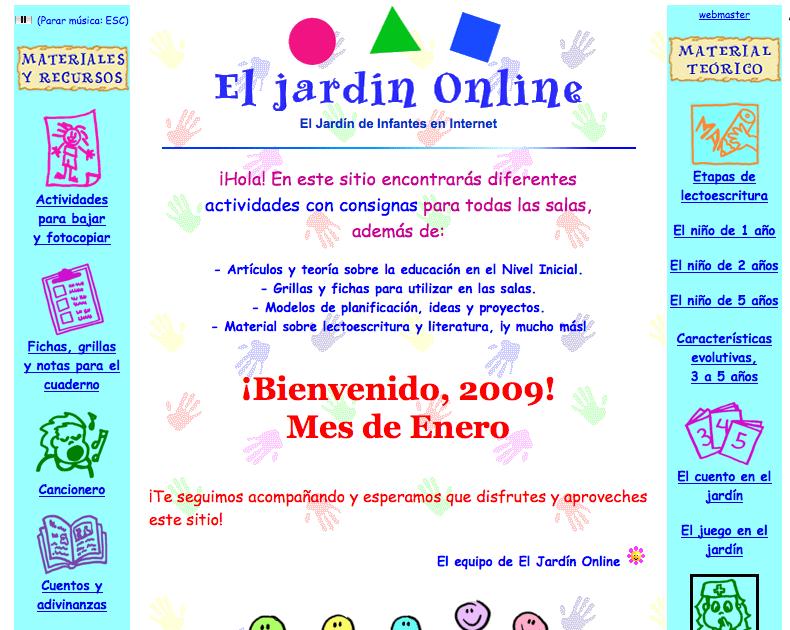 Recursos para educaci n infantil de 0 a 6 a os el jard n for El jardin online