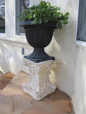 Urns, Succulents U0026 Vintage Garden Pedestals