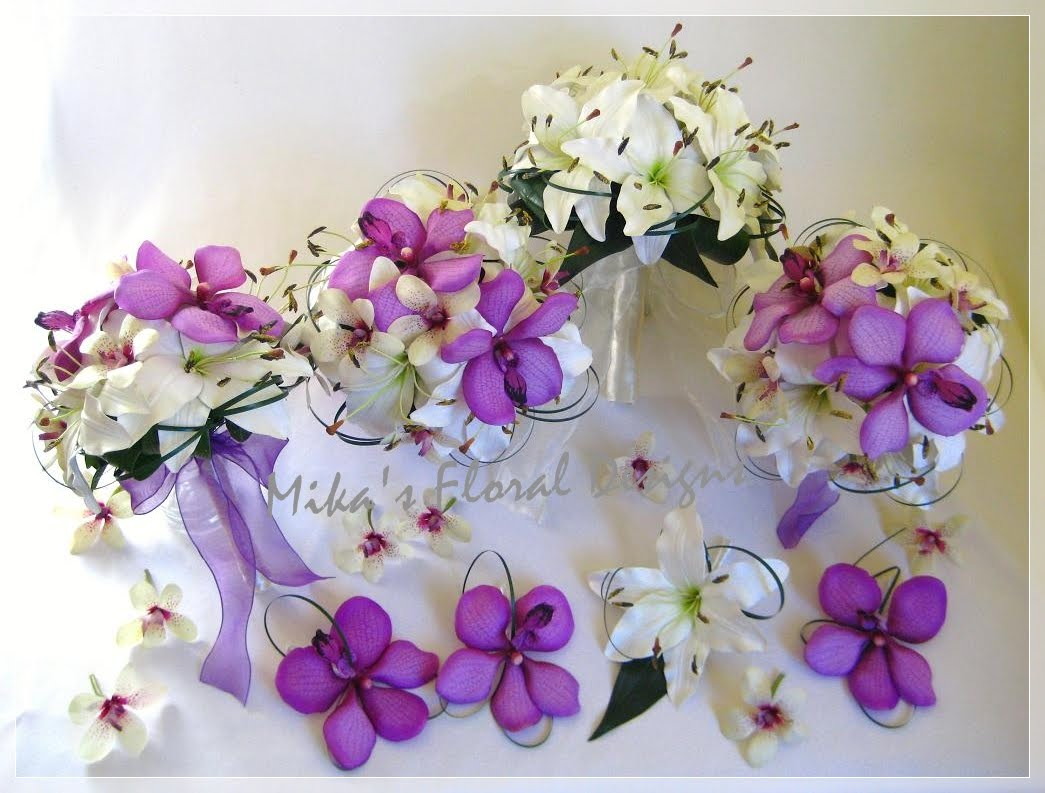 Artificial Wedding Flowers And Bouquets Australia White Lilies