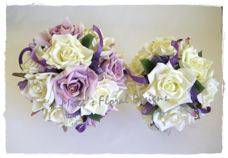 Artificial Wedding Flowers and Bouquets - Australia: Cream and Lilac ...