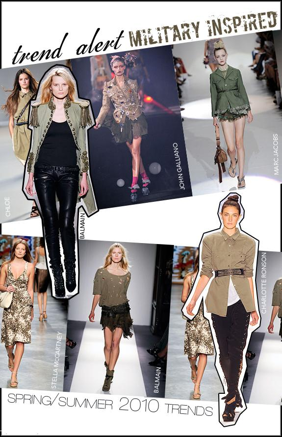 Fashion Trends The Military Look Fashionably Fly