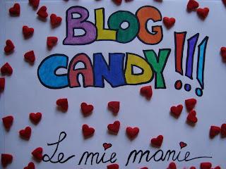 Blog Candy di Le mie manie