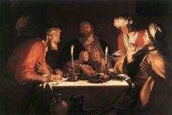 Los discípulos de Emaus. Abraham Bloemaert. 1622
