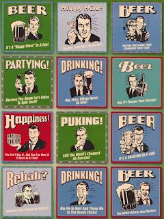 Обои для рабочего стола Пародия на ретро рекламу напитков