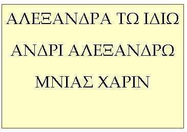 ALEXANDRA Μακεδονικά ονόματα επιγραφών περιοχής FYROM