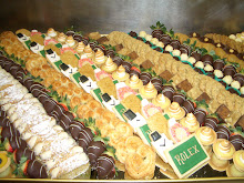 Mirror Display of Petit Fours for Rolex Corporate Party with Watch Cookies
