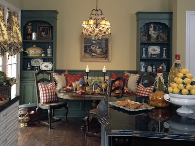 Old sweetwater cottage the queen 39 s decor for Country kitchen dining room ideas