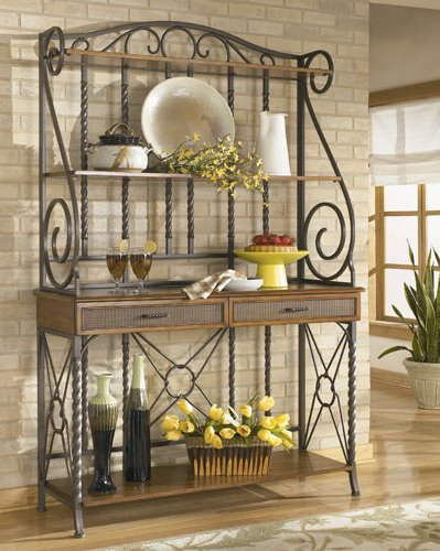 Bakers Rack Decorating Ideas