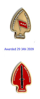 2009 JAN 28     USASOC coin Special Forces   A Special Day!