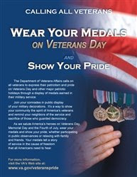 vet pride poster Veterans   Wear your Medals!