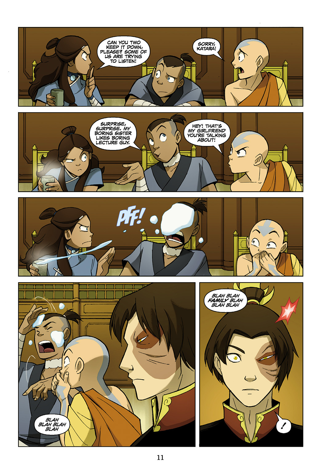 Read online Nickelodeon Avatar: The Last Airbender - The Search comic -  Issue # Part 1 - 12