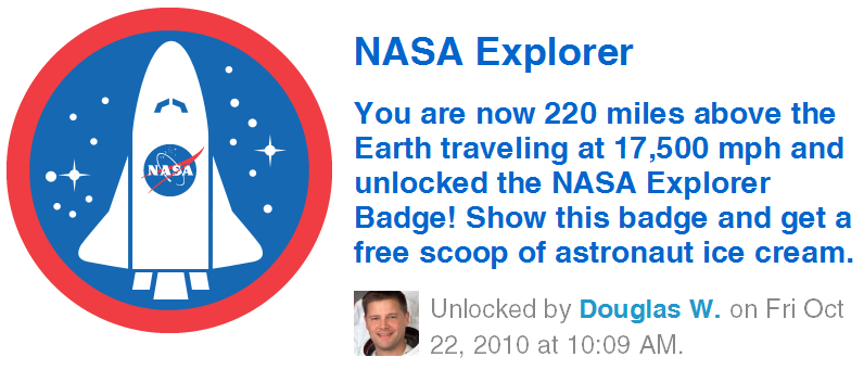 NASA Explorer Foursquare Badge