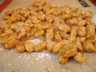 My plate, my world: Apricot Ginger and Sugared Almond Frozen Yogurt