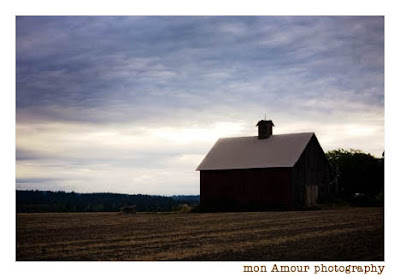 barn at sunrise