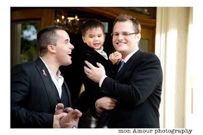 Cute kid and his cute dads